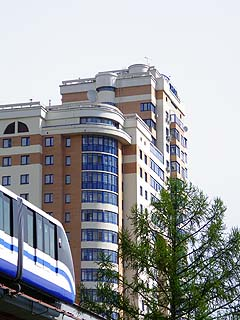 028 Московский монорельс. Monorail of Moscow.  188k